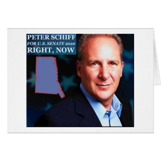 Cartão Peter Schiff para o Senado