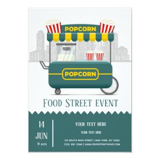 Cartão Petisco da pipoca da rua da comida
