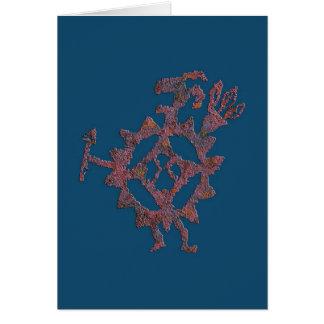 Cartão Petroglyph do comedor da bola de golfe