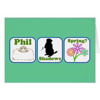 Cartão Phil, sombras, primavera