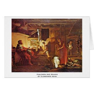 Cartão Philemon e Baucis por Elsheimer Adam