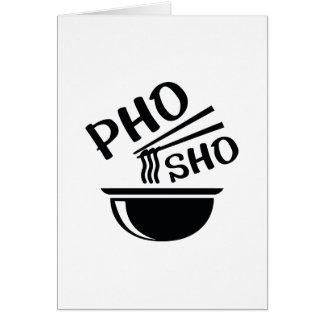Cartão Pho Sho