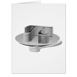 Cartão Pi em uma bandeja de prata