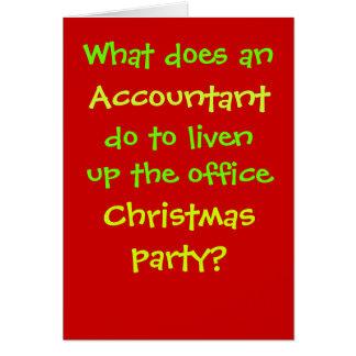 Cartão Piada cruel & engraçada do Natal do contador do