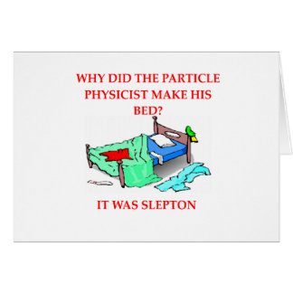 Cartão piada da física