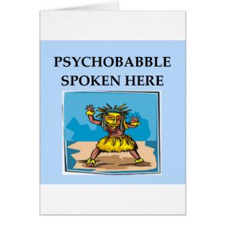 Cartão piada da psicologia