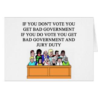 Cartão piada do dever de júri do governo