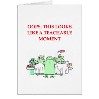 Cartão piada do doutor