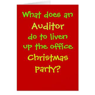 Cartão Piada do Natal do auditor - cruel mas engraçada