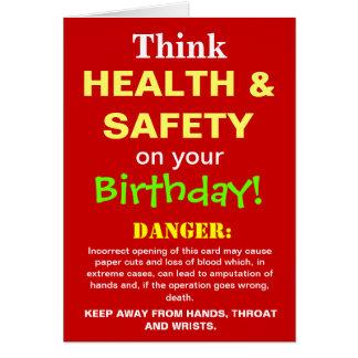Cartão Piada engraçada do aniversário da saúde e da