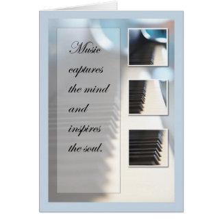 Cartão Piano da inspiração da música
