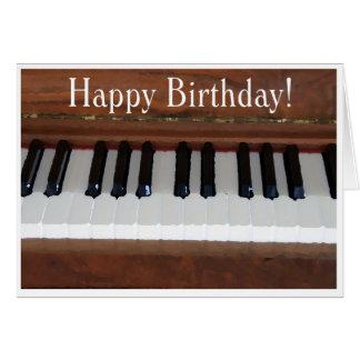 Cartão Piano do feliz aniversario