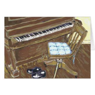 Cartão Piano e cadeira