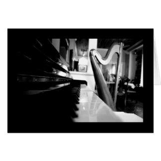 Cartão Piano & harpa [cartão]