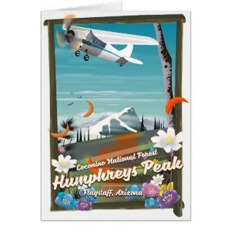 Cartão Pico de Humphreys, pico de Humphreys, mastro,