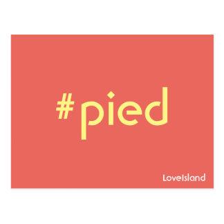 Cartão Pied da ilha do amor de Hashtag
