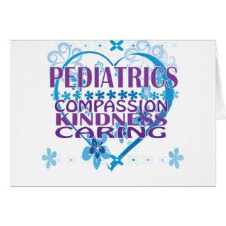 Cartão Piedade da pediatria, bondade & presentes de