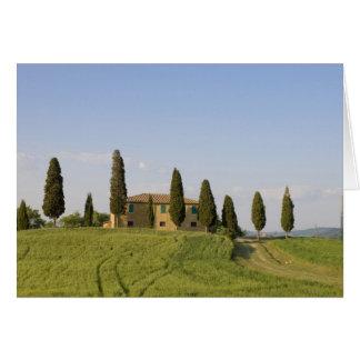 Cartão Pienza, d'Orcia de Val, província de Siena,