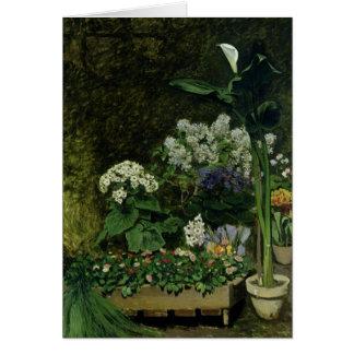 Cartão Pierre flores de Renoir um | em uma estufa