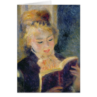 Cartão Pierre uma leitura da menina de Renoir  