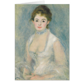 Cartão Pierre uma senhora Henriot de Renoir  