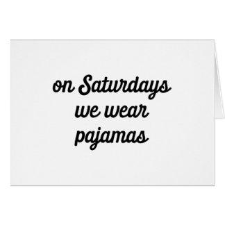 Cartão Pijamas de sábado