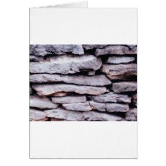 Cartão pilha da rocha formada