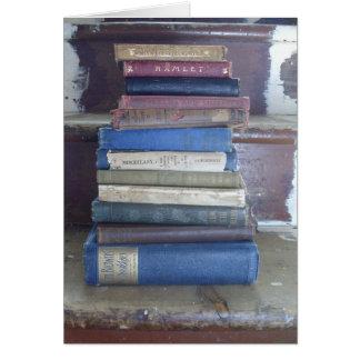 Cartão pilha de livro