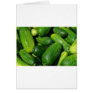 Cartão pilha dos pepinos