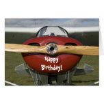 Cartão piloto do feliz aniversario do avião