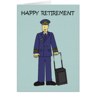 Cartão Piloto feliz da aposentadoria