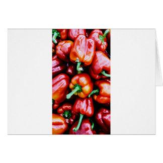 Cartão Pimentas de Bell vermelhas