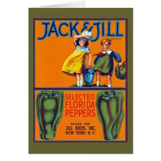 Cartão Pimentas de Jack & de Jill Florida