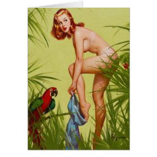 Cartão Pin de pingamento tropical acima