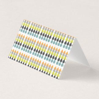 Cartão Pingos de chuva retros customizáveis