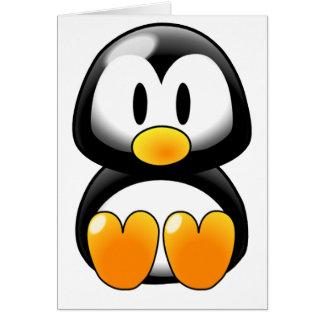 Cartão Pinguim bonito do bebê - Customizeable