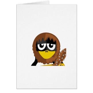 Cartão Pinguim do homem das cavernas
