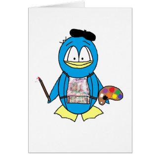 Cartão Pinguim do pintor