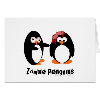 Cartão Pinguim do zombi