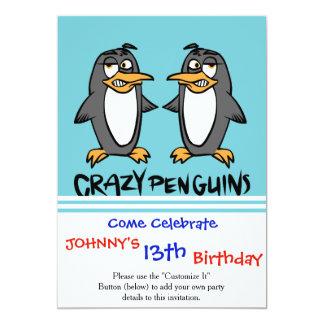 Cartão Pinguins loucos