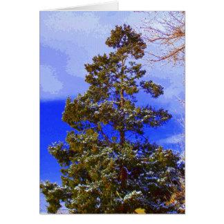 Cartão Pinho com céu Pixilated