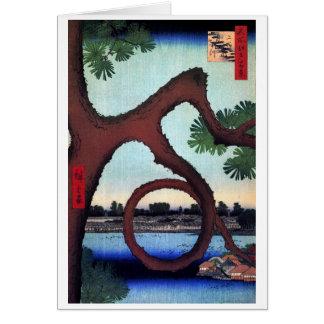 Cartão Pinho Ueno da lua, Hiroshige