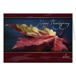 Cartão pintado da acção de graças da folha do
