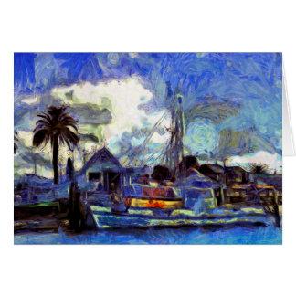 Cartão pintado da navigação das belas artes
