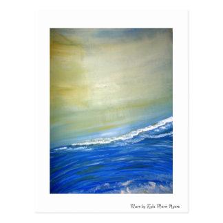 Cartão pintado da onda de oceano