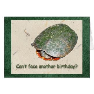 Cartão pintado do aniversário da tartaruga
