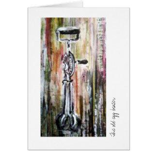Cartão pintado do Ovo-batedor