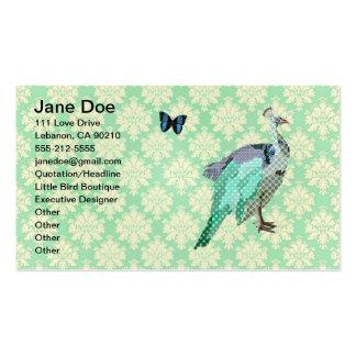 Cartão pintado elegante do damasco do Julep de Cartão De Visita