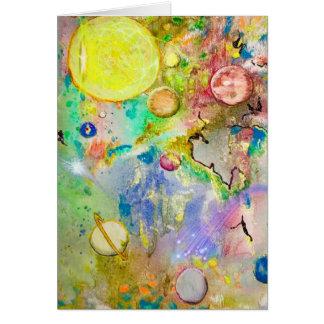 Cartão pintado mão da galáxia