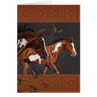 Cartão Pinte cavalos com opinião ilimitada